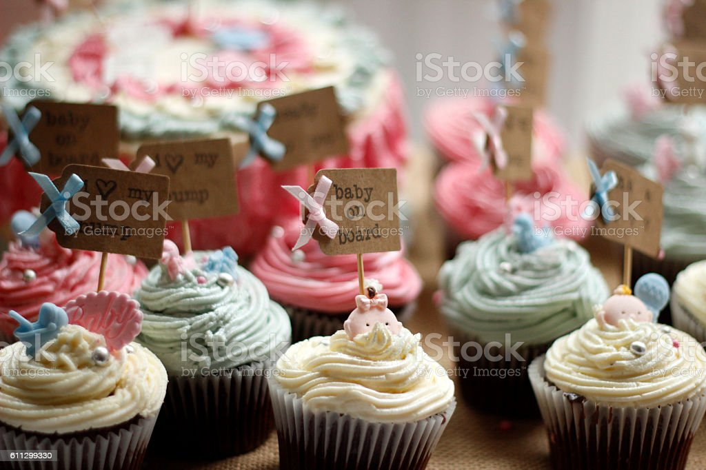 Selection of cupcakes stock photo