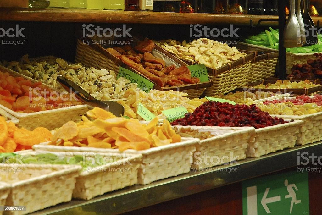 Selection of dried fruit royalty-free stock photo