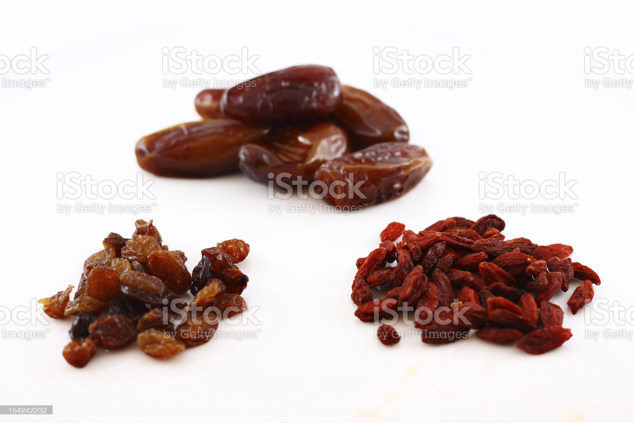 Selection of dry fruits royalty-free stock photo