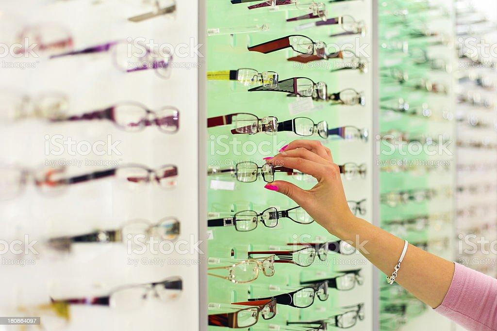 Selection of eyewear royalty-free stock photo