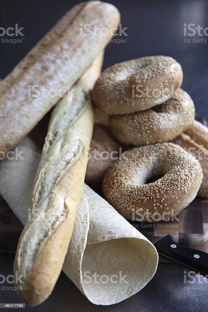 Selection of fine breads royalty-free stock photo