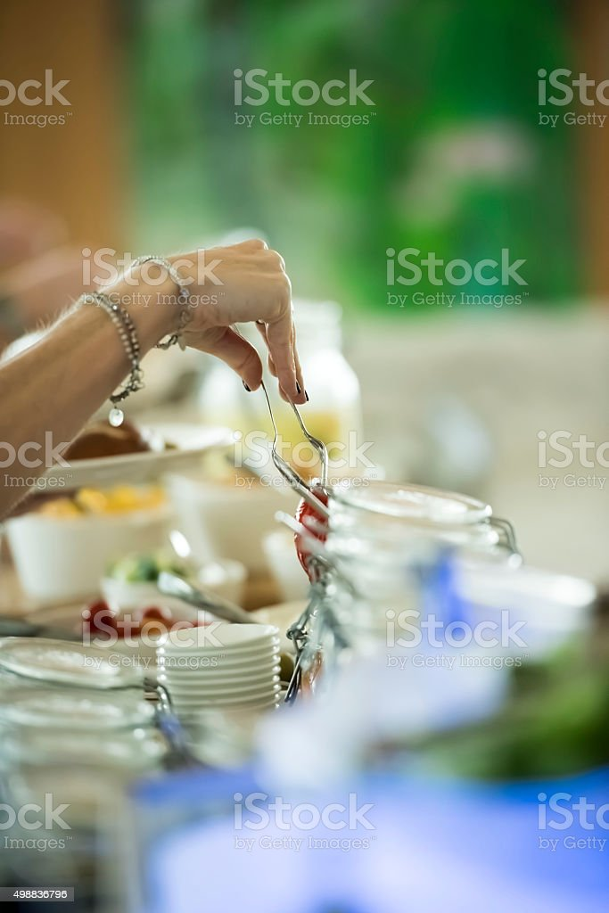 Selection of food stock photo