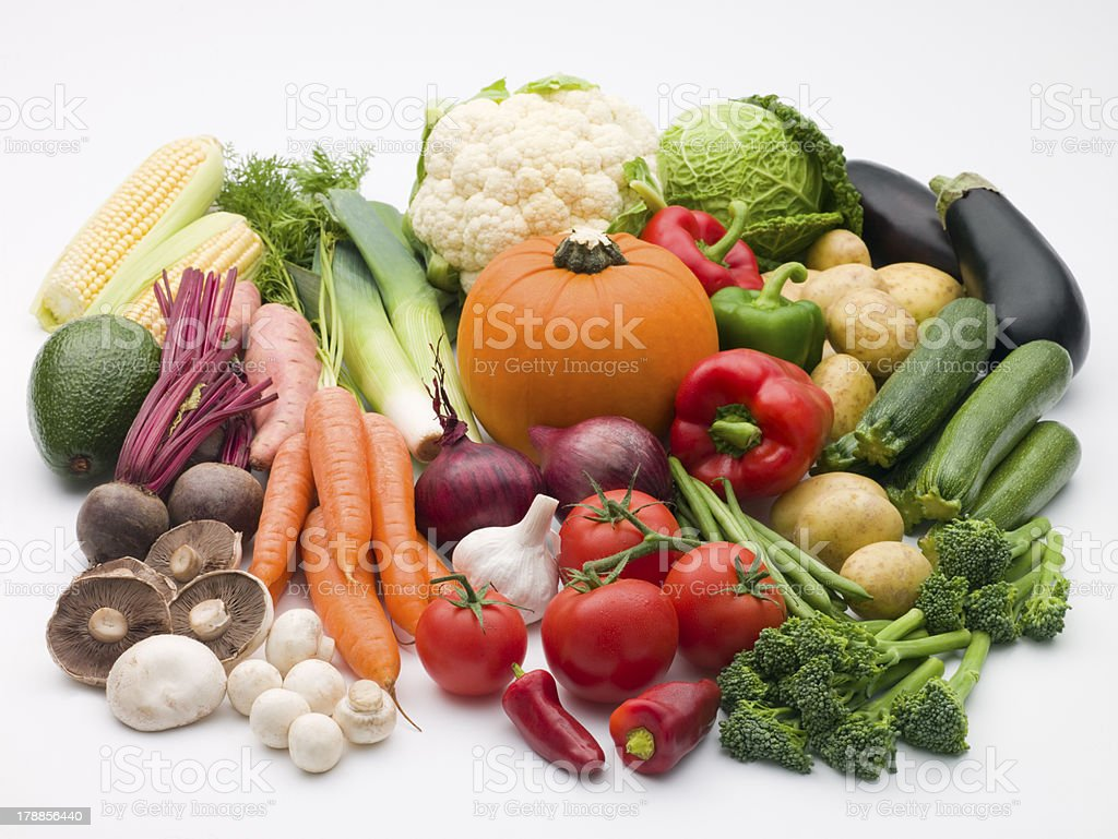 Selection Of Fresh Vegetables royalty-free stock photo