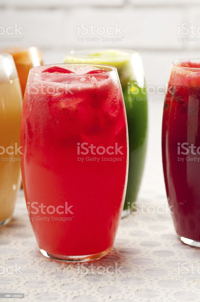 selection of fruits long drinks royalty-free stock photo