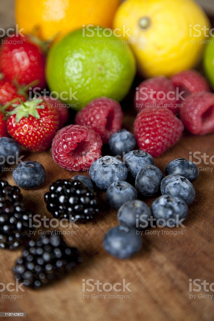 Selection of fruits stock photo