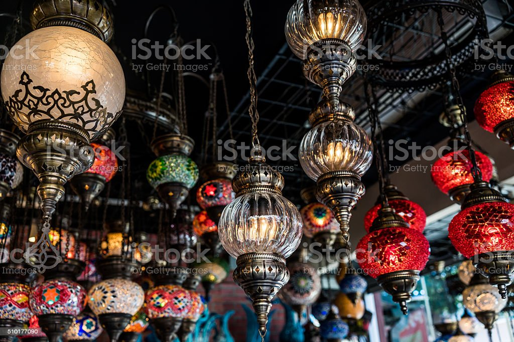 Selection of lamps stock photo