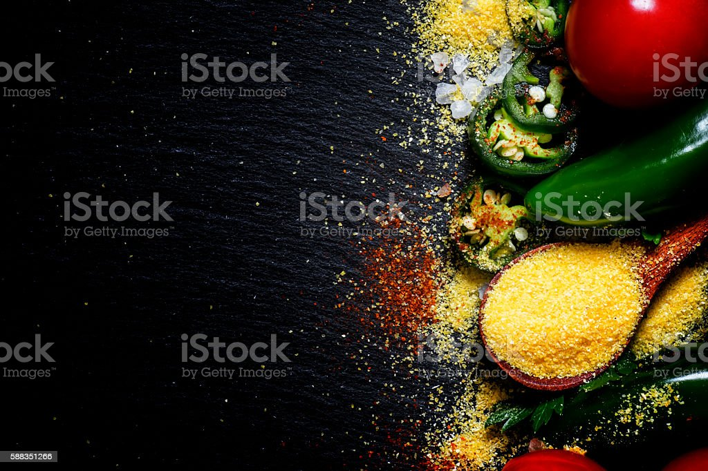 Selection of Mexican food stock photo