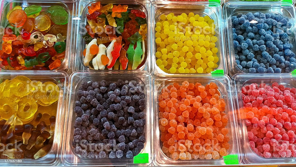 Selection of mixed sweets and candies royalty-free stock photo