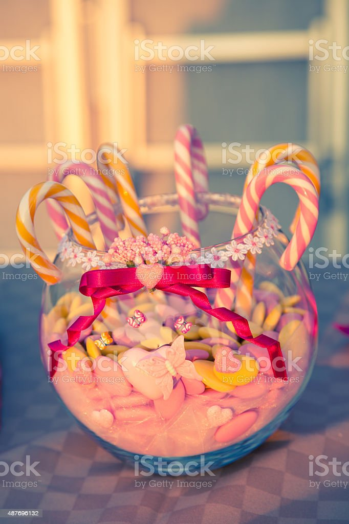 Selection of mixed sweets stock photo
