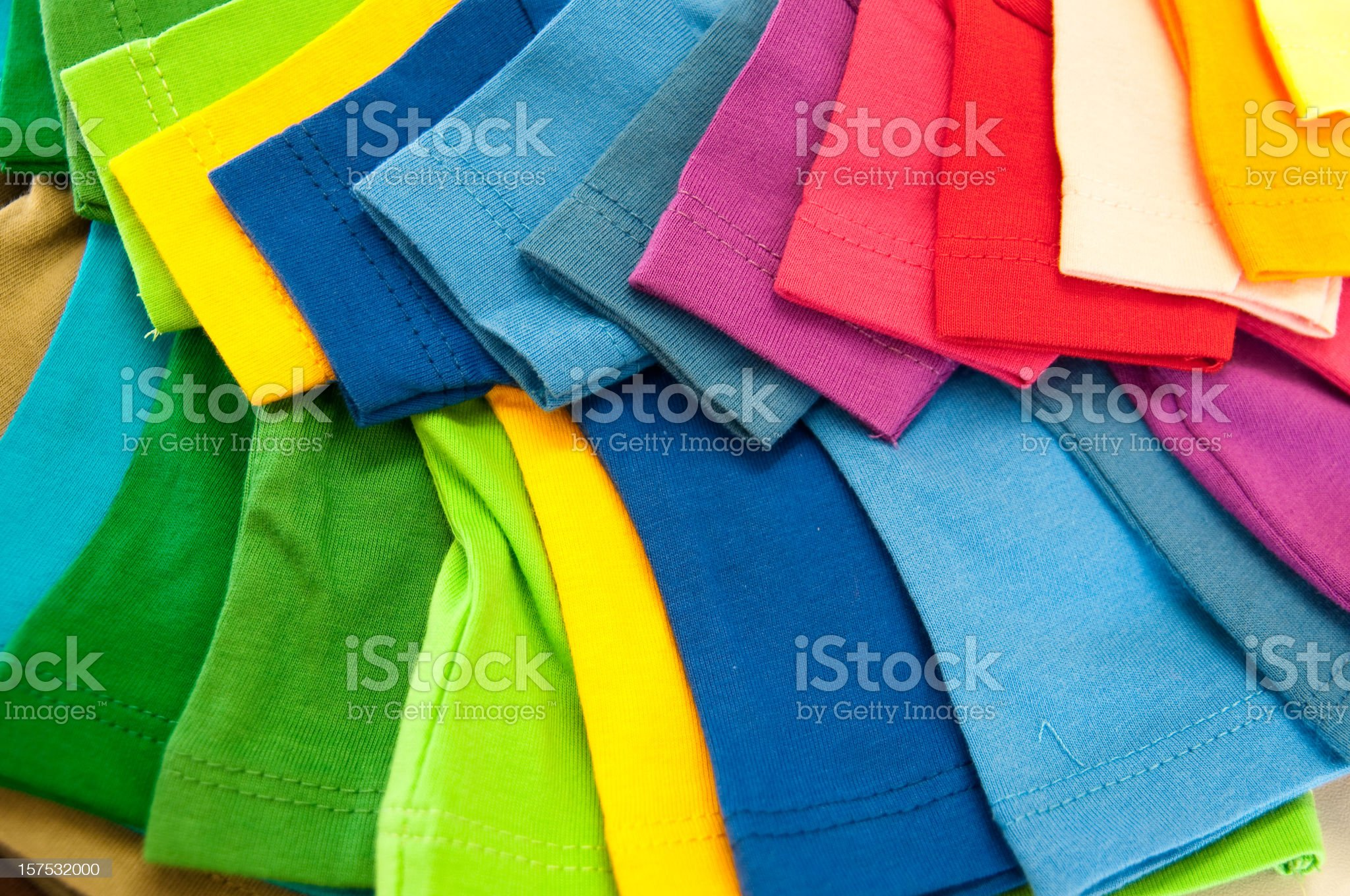 selection of multicolored shirts royalty-free stock photo