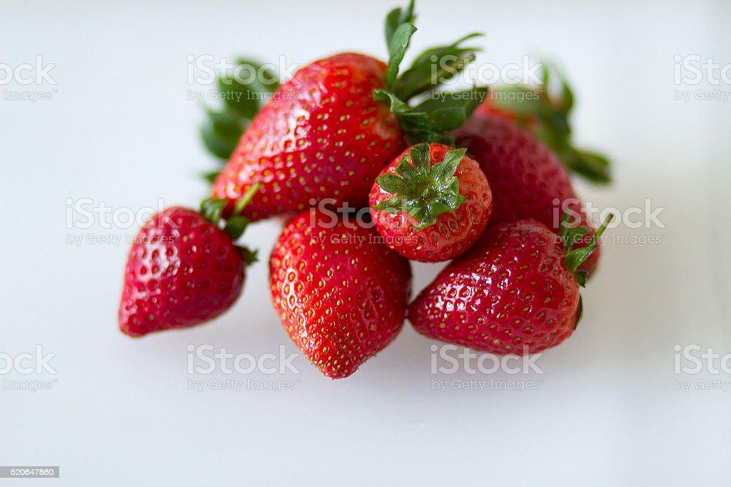 Selezione di fragole organico foto stock royalty-free