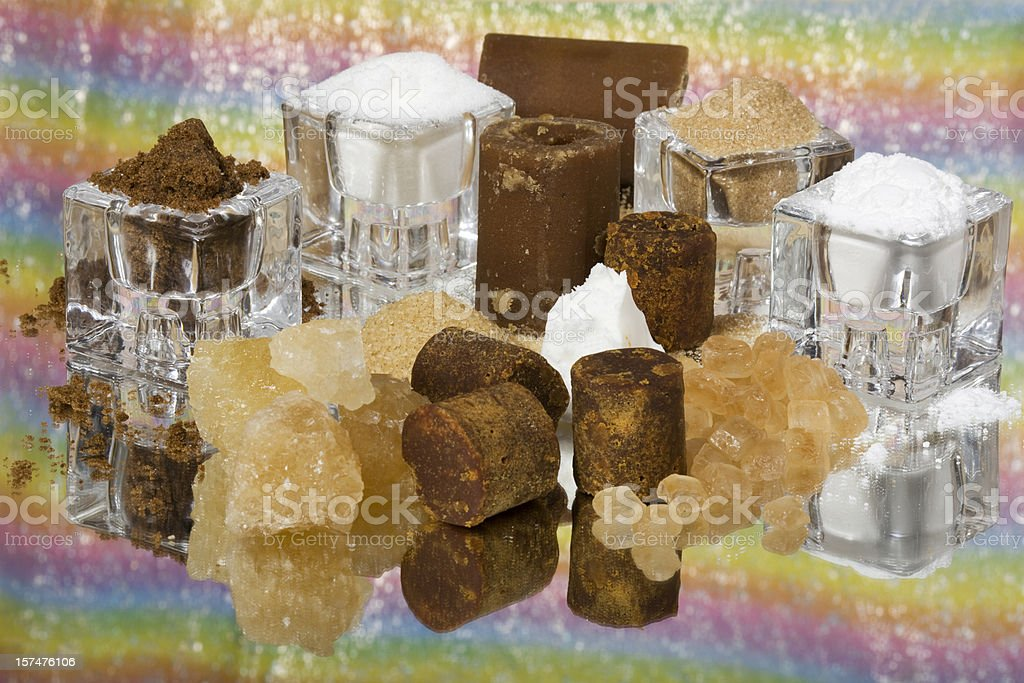 selection of sugar royalty-free stock photo
