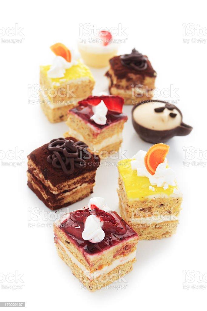 Selection of Sweet Italian Cakes. royalty-free stock photo