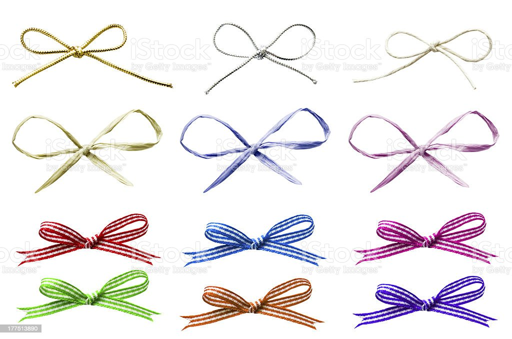 Selection of Tied Bows stock photo