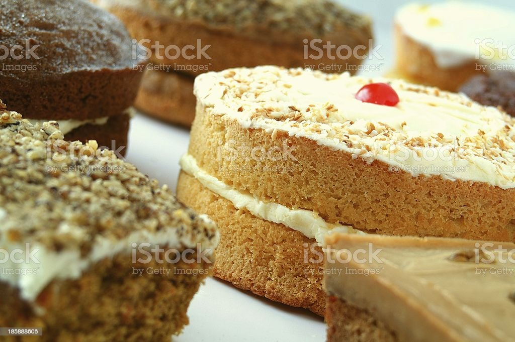 selection of traditional cakes stock photo