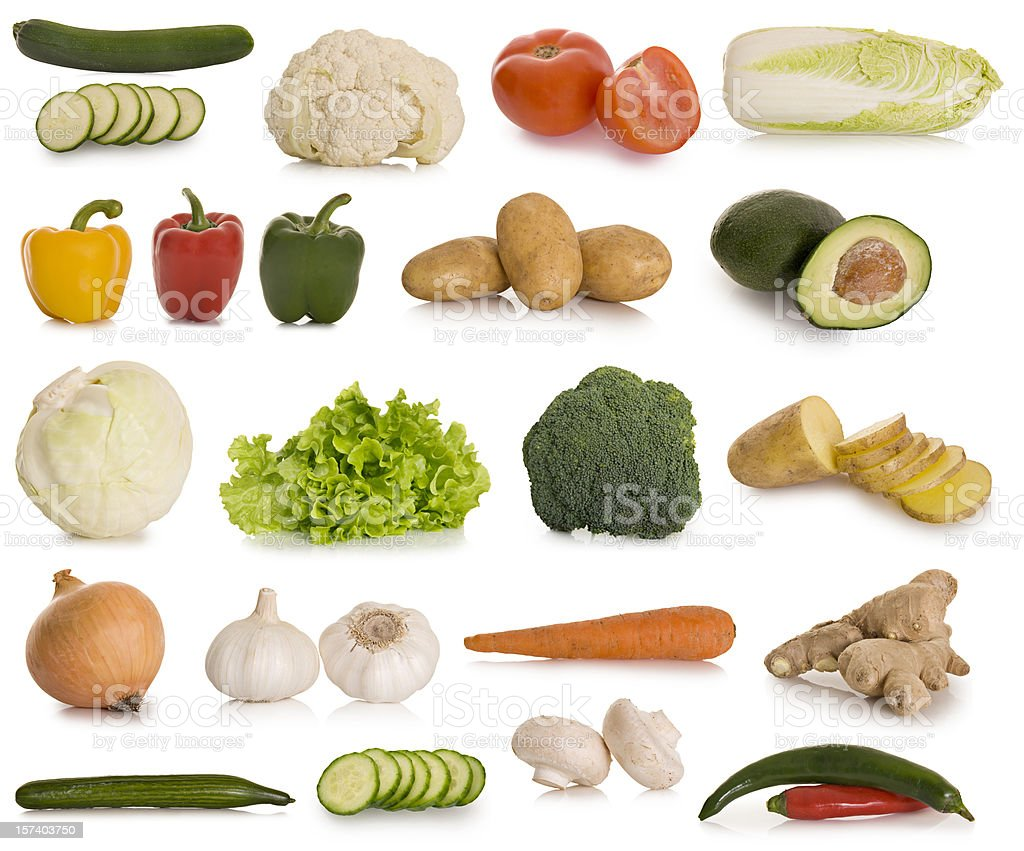 Selection of vegetables royalty-free stock photo