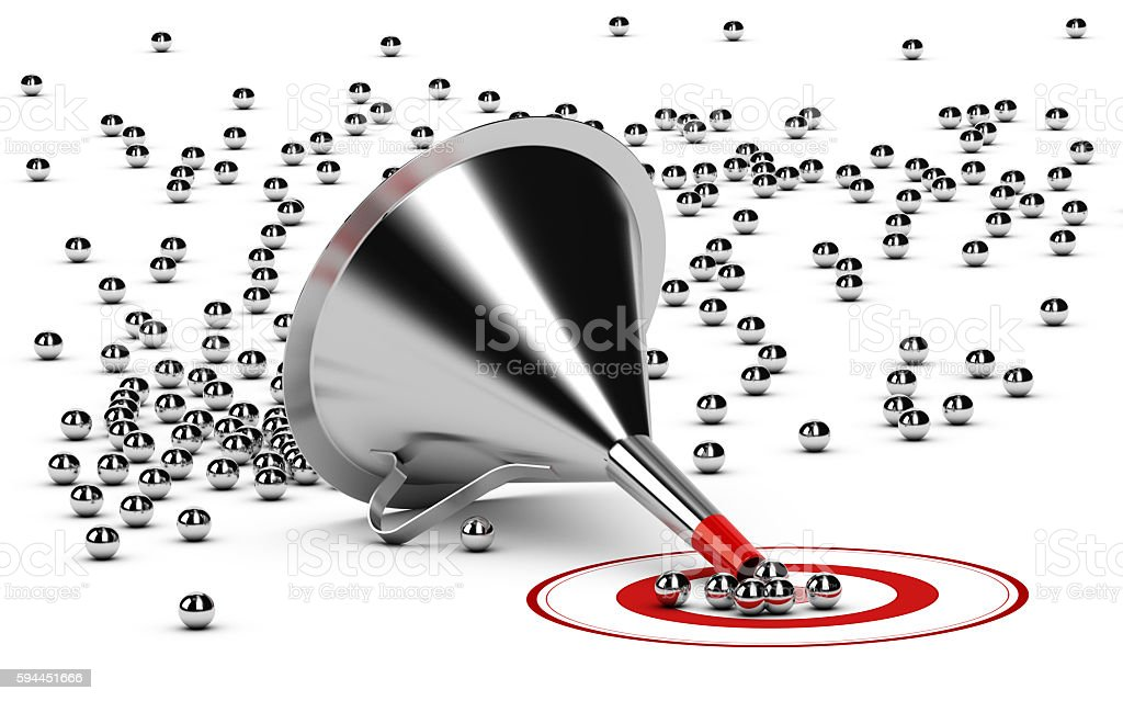 Selection Process, Sales Funnel stock photo