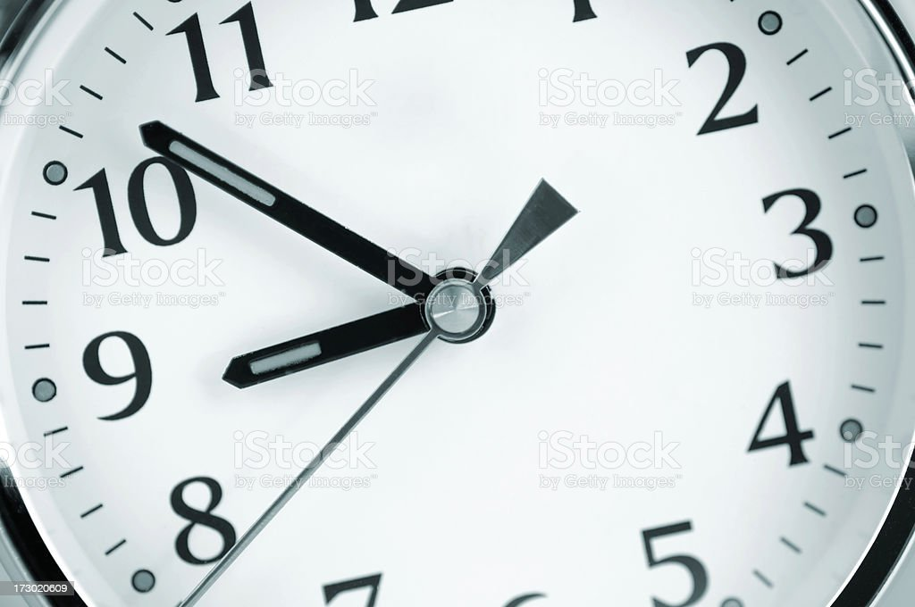 Selective focus close up of clock royalty-free stock photo