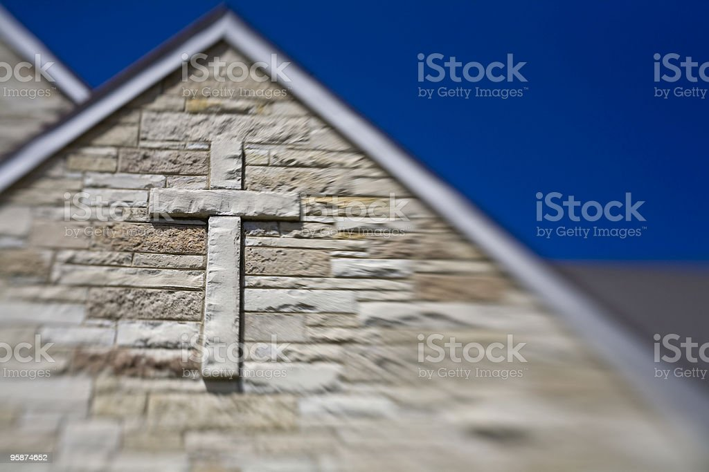 Selective Focus Cross stock photo