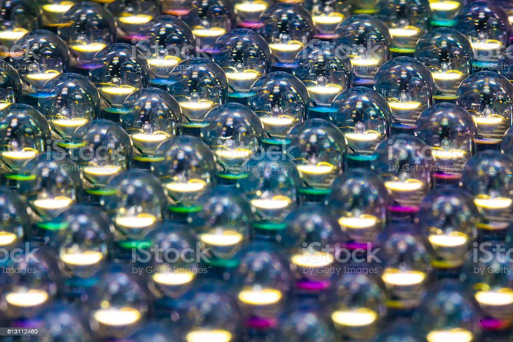 Selective focusled diode panel light colourfull stock photo