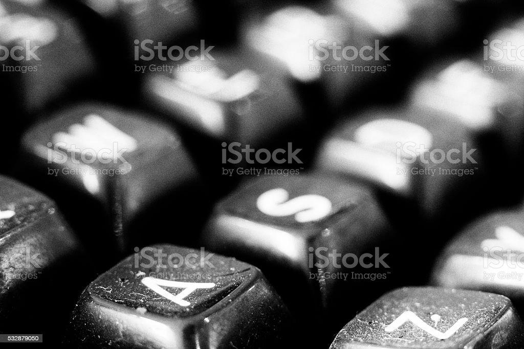 IBM Selectric II Keyboard stock photo