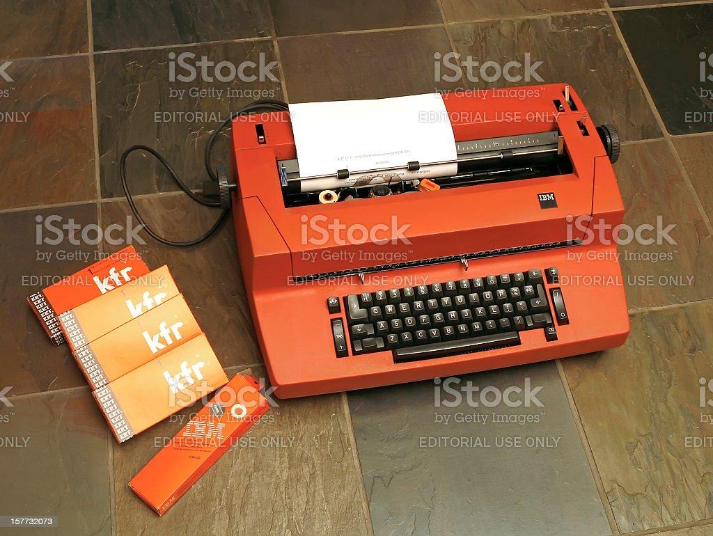 IBM Selectric Typewriter stock photo