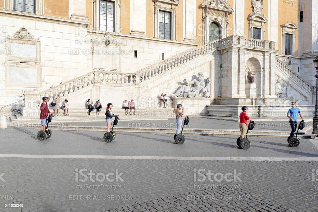 Self Balancing Scooter stock photo