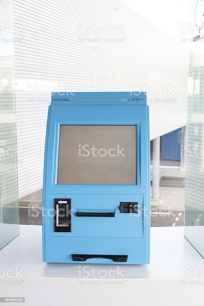 Self Check In royalty-free stock photo