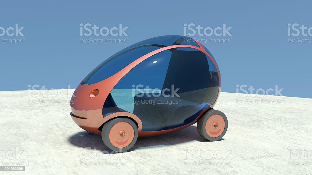 Self driving, autonomous car. stock photo