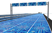 self driving electronic computer road