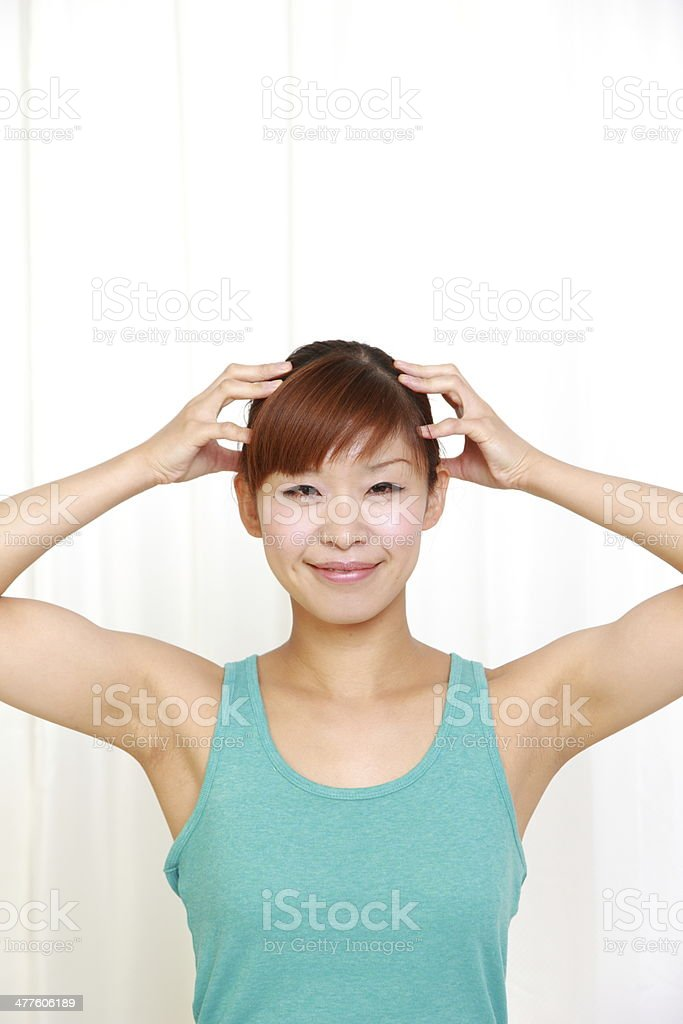 self head massage stock photo