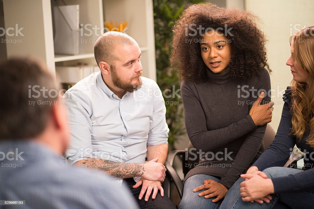 self help group stock photo
