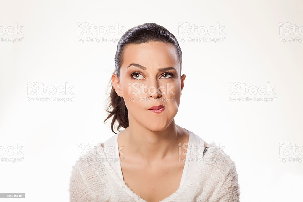 self mouth checking stock photo