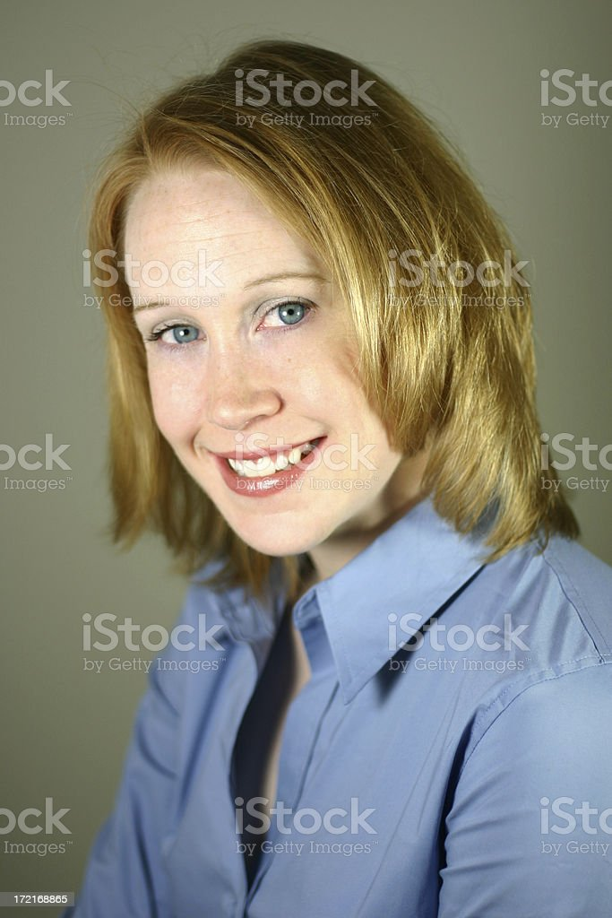 Self Portrait Series: Smiling. royalty-free stock photo
