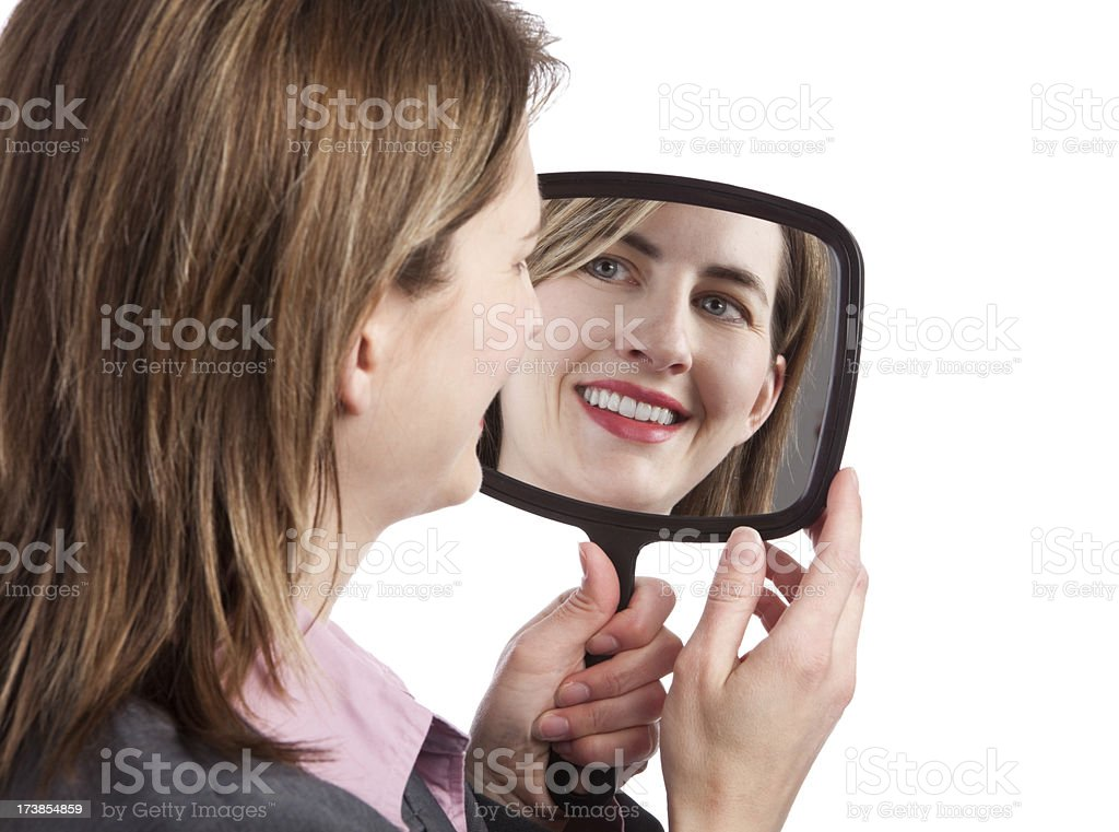 Self Reflection royalty-free stock photo
