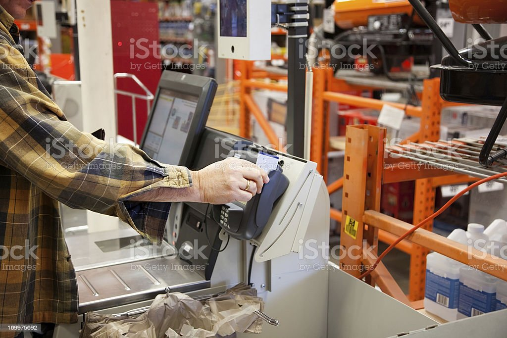 Self Service Credit Card Pay stock photo