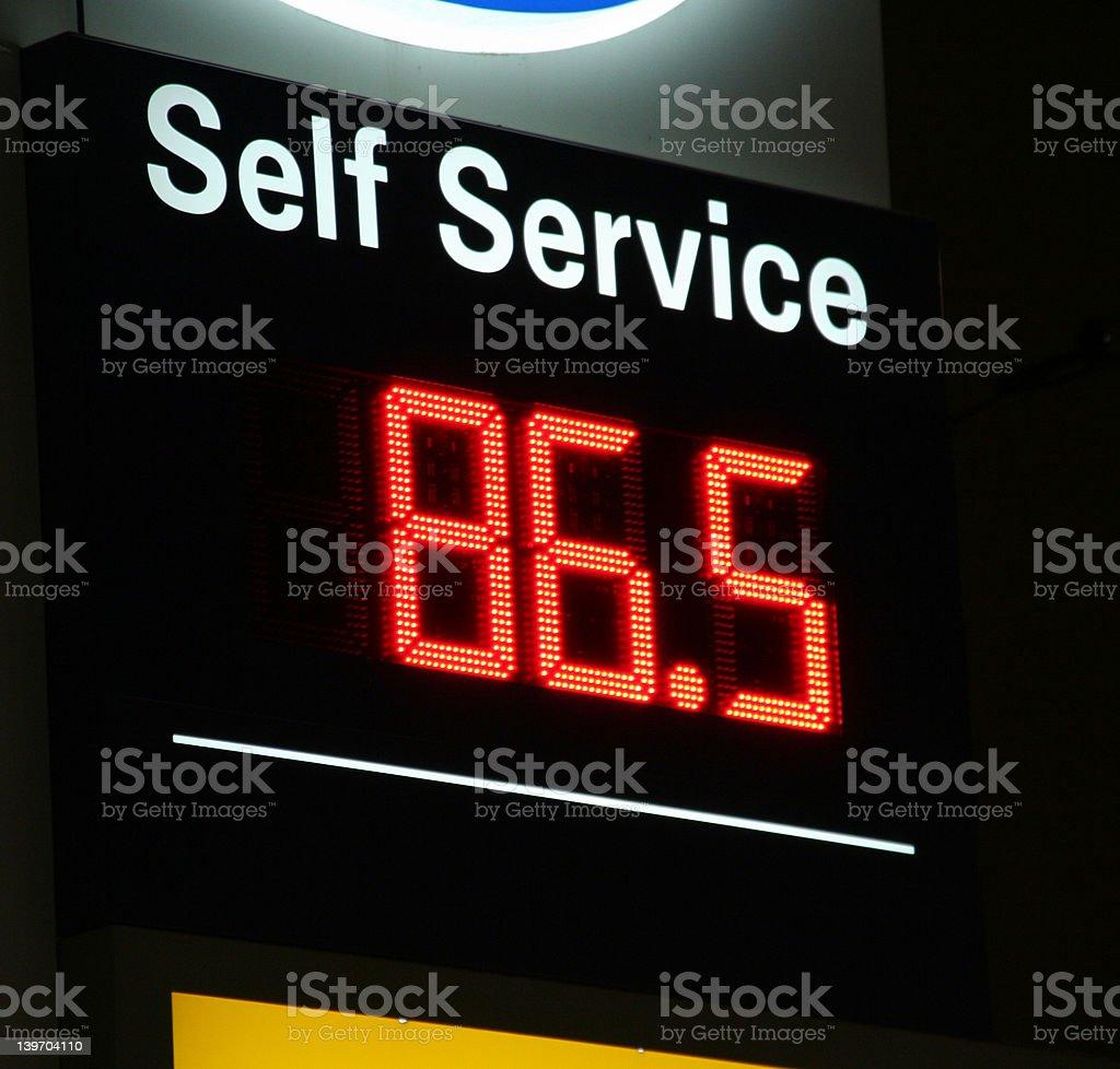 Self service gas price stock photo
