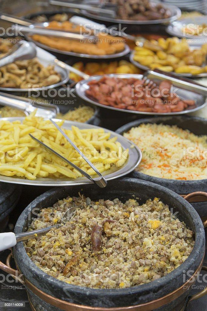Self service restaurant in Minas Gerais royalty-free stock photo