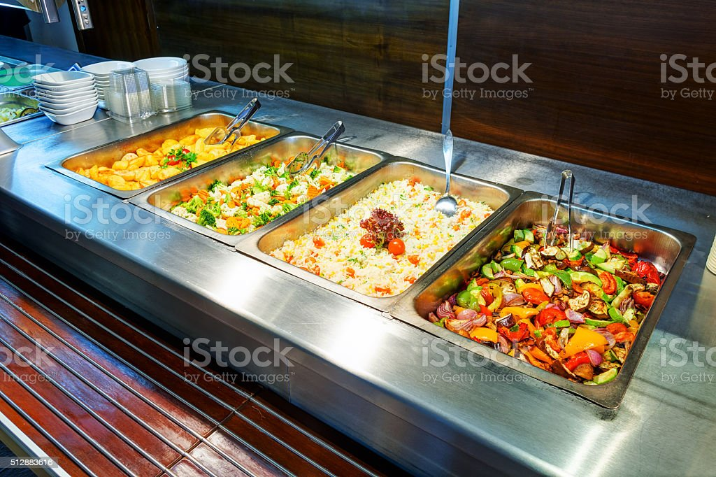 Self service restaurant stock photo