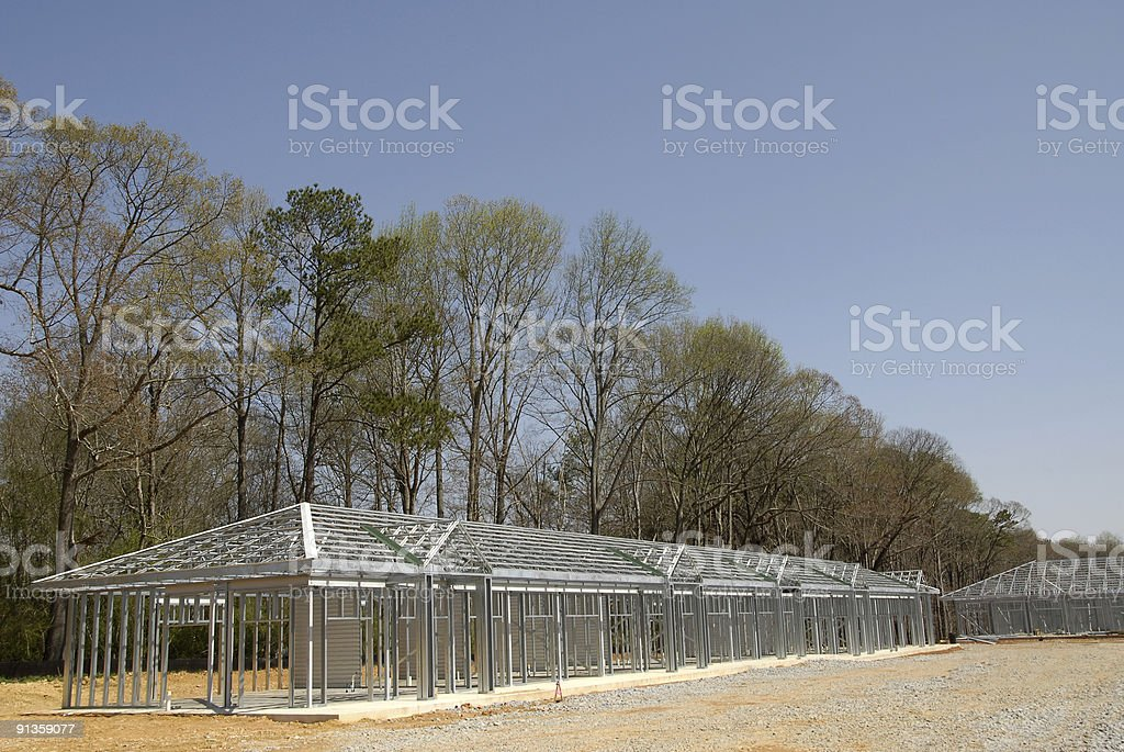 Self Storage Building Construction royalty-free stock photo