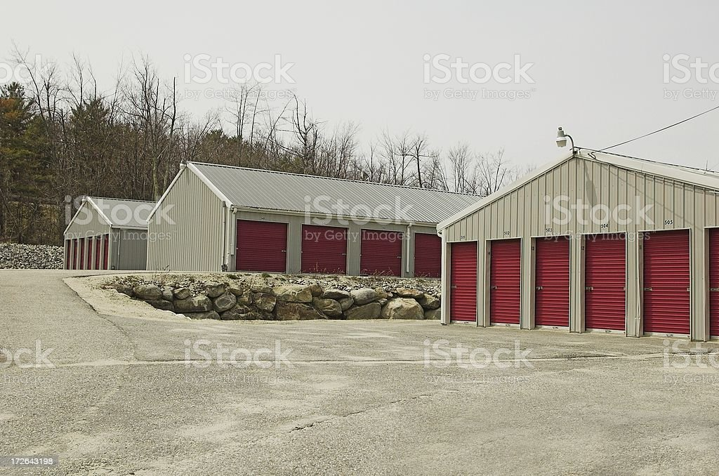 self storage buildings royalty-free stock photo
