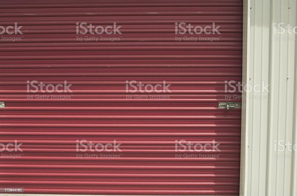 self storage door stock photo