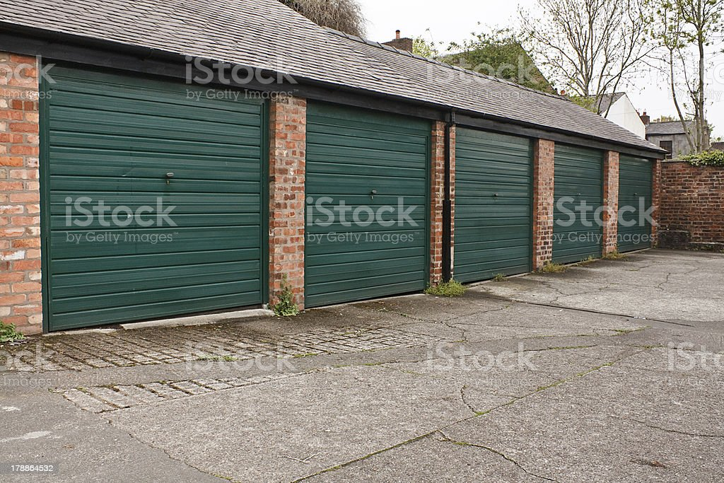 Self storage garages stock photo