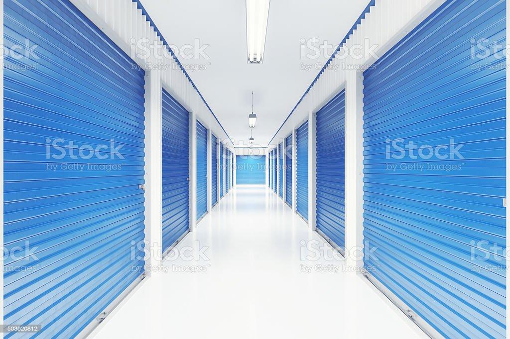 Self Storage Units Interior stock photo