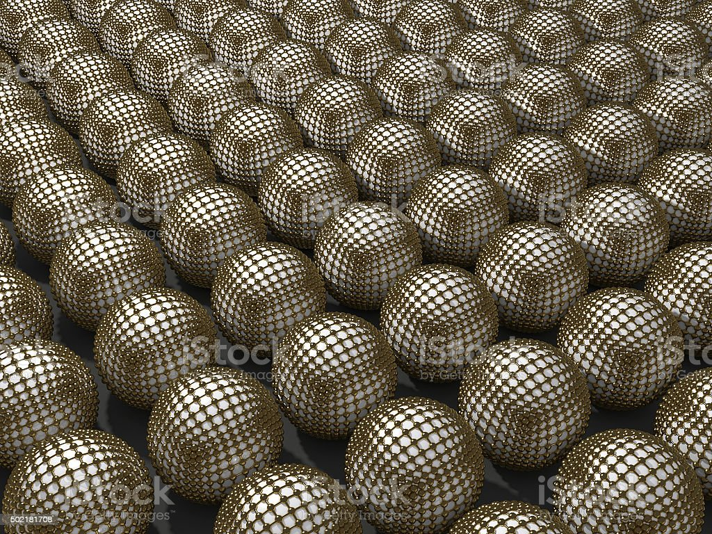 Self-assembled mono layers of gold nanocages stock photo