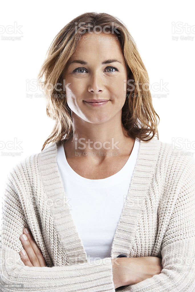 Self-assured and positive stock photo