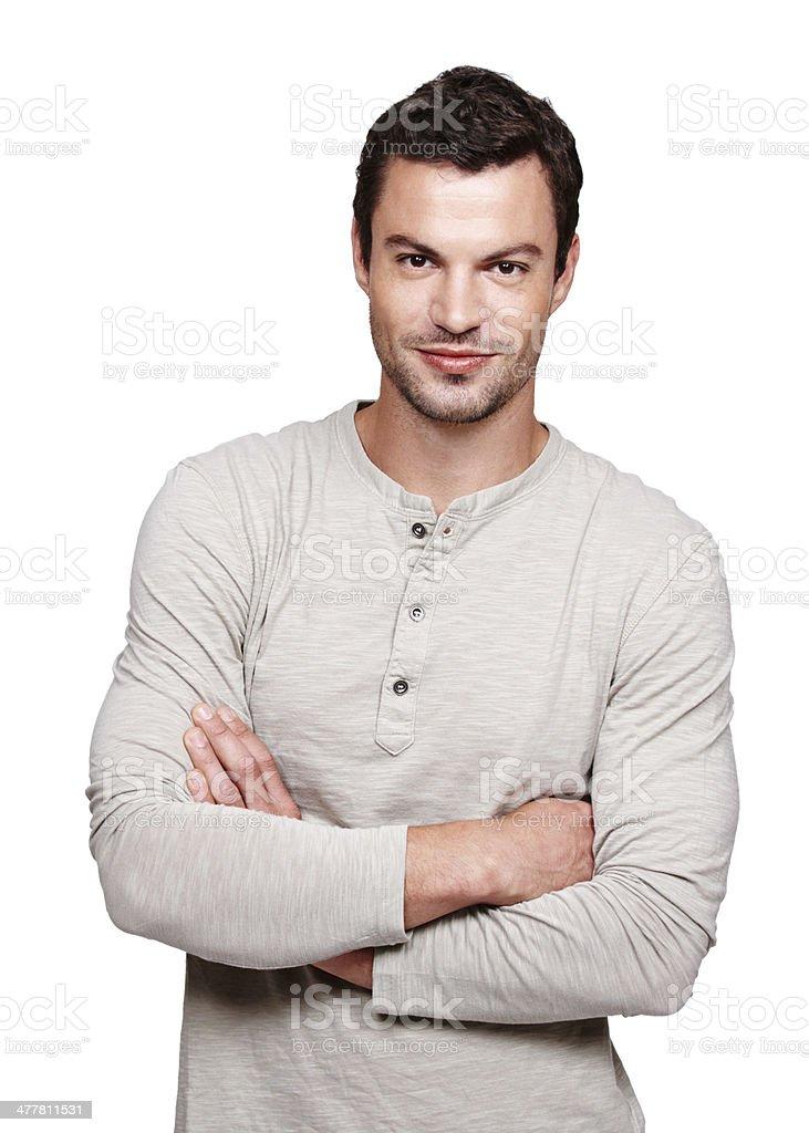 Self-assured modern man royalty-free stock photo
