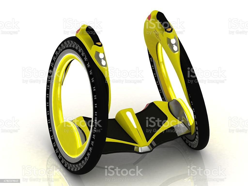 Self-balancing electric scooter stock photo