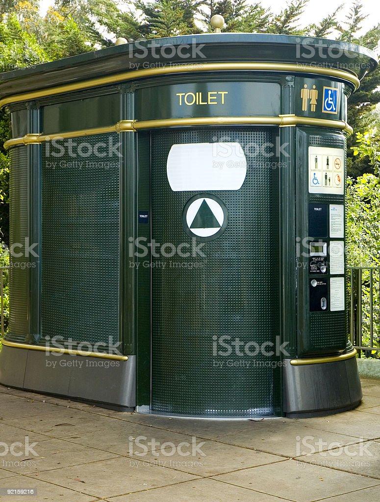 Autopulente di toilette pubblica foto stock royalty-free