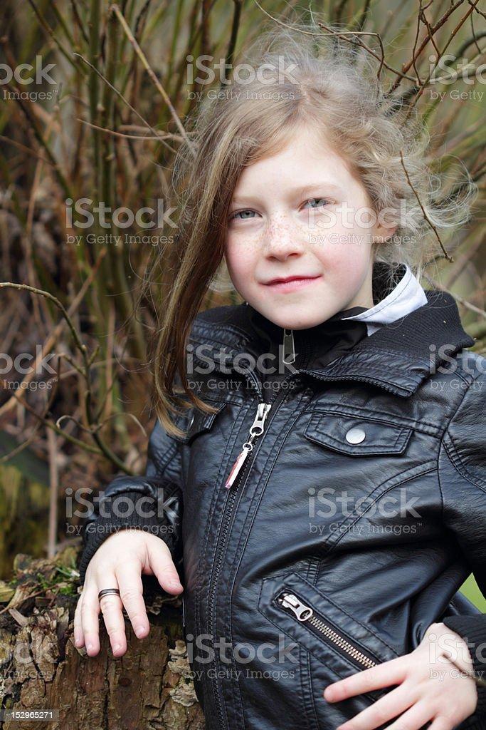 selfconcious girl stock photo